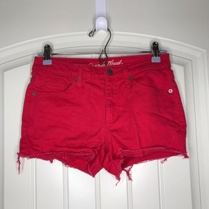 Distressed Red Short Shorts - New and so cute!